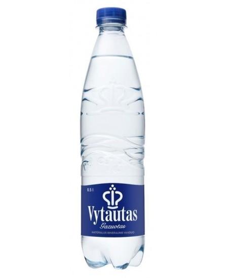 Natūralus mineralinis vanduo VYTAUTAS, 0.5 l, gazuotas