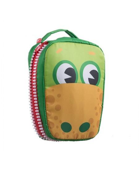 Pietų dėžutė, ZIPIT, Creature Lunch Bag, LBC-1, Žalia