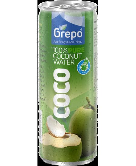 100% grynas kokoso vanduo GREPO, 320 ml