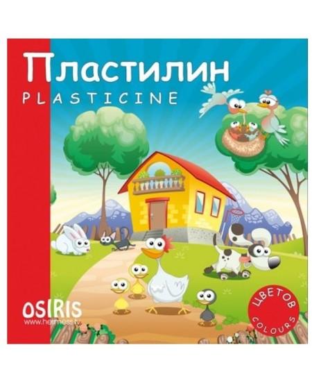 Plastilinas OSIRIS, 12 spalvų