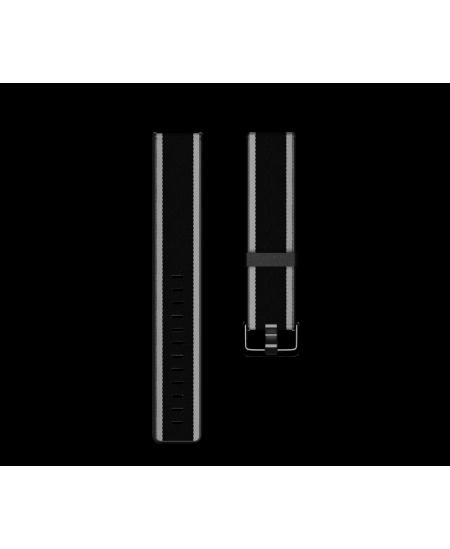 Fitbit  Versa-Lite Woven Hybrid Band, large, black/gray