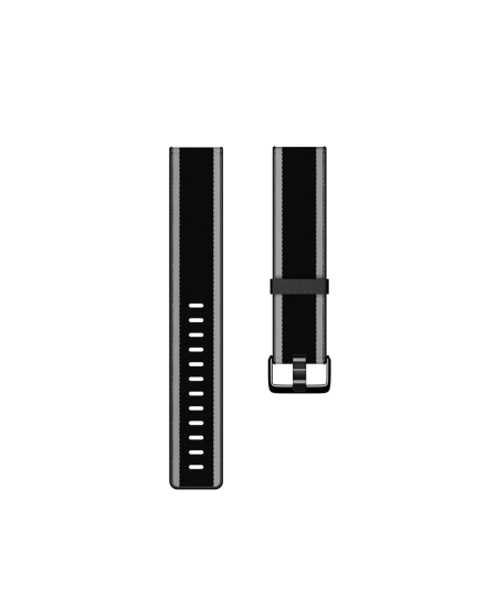 Fitbit  Versa-Lite Woven Hybrid Band, small, black/gray