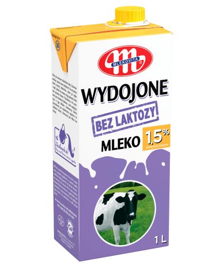 Pienas MLEKOVITA, 1.5% riebumo, be laktozės, 1L