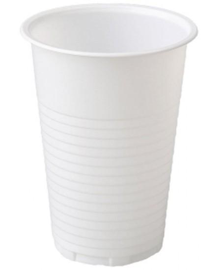 Vienkartinės stiklinės, baltos spalvos, 200 ml, 100 vnt.