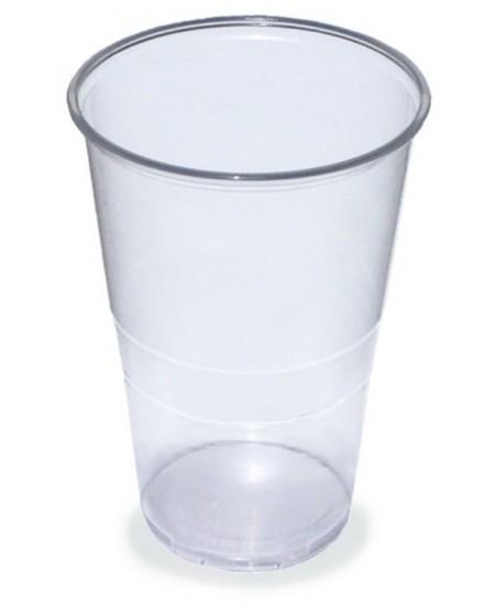 Vienkartinės stiklinės, skaidrios, 500 ml., 50 vnt.