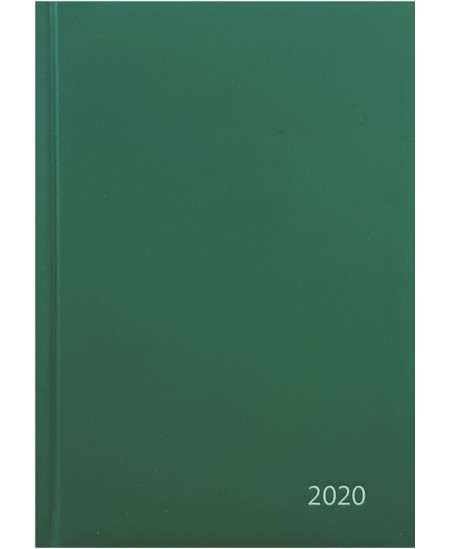 Darbo knyga STANDARD 2020, PVC, A5, žalia