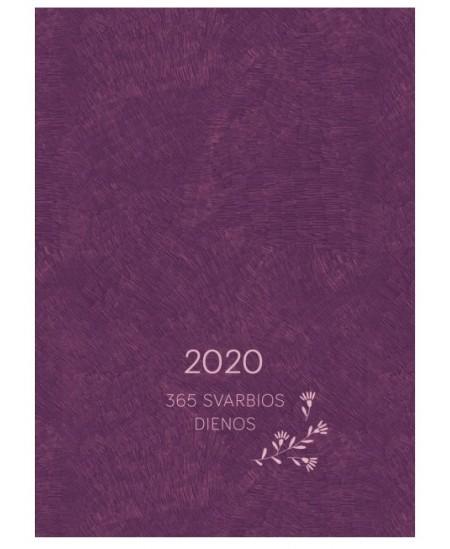 366 svarbios dienos 2020, 12 x 16,6 cm, violetinė
