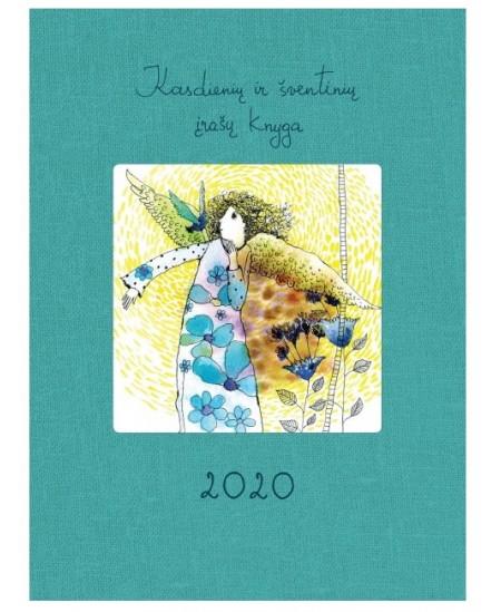 Kasdienių ir šventinių įrašų knyga 2020, 14 x 18.7 cm, 136 psl., turkio