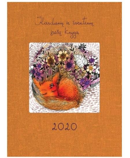 Kasdienių ir šventinių įrašų knyga 2020, 14 x 18.7 cm, 136 psl., oranžinė