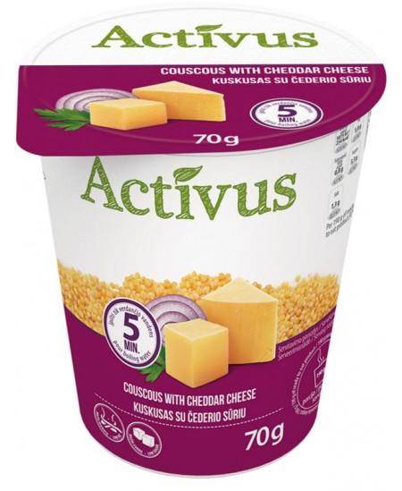 Kuskuso košė ACTIVUS su čederio sūriu, 70 g