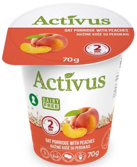 Avižinė košė ACTIVUS su persikais, 70 g