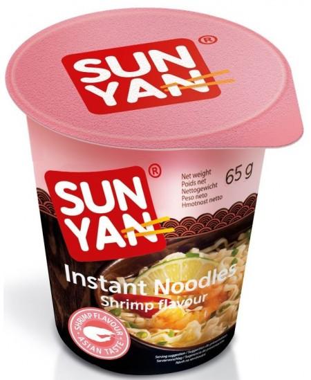 Makaronai SUN YAN su krevetėmis, 65 g
