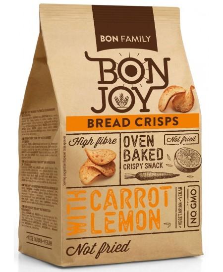 Duonos traškučiai BON JOY su morkomis ir citrina, 50 g