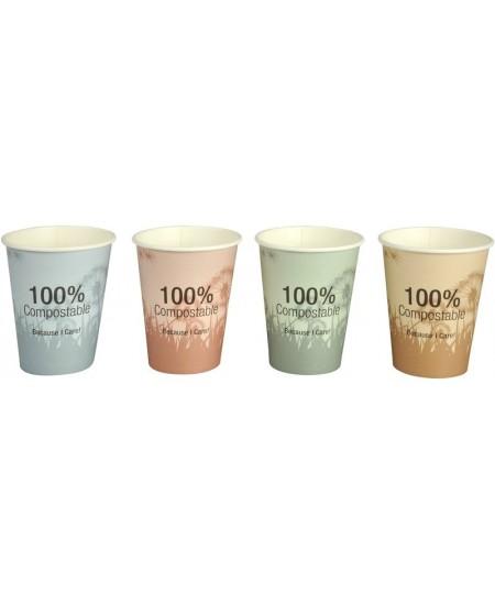 Ekologiški popieriniai BIO puodeliai, 240 ml, 50 vnt