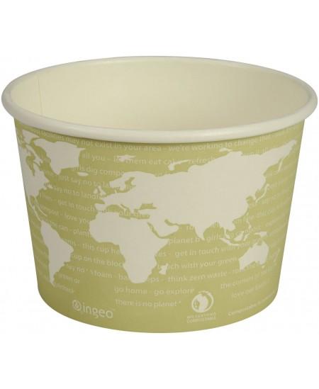 Ekologiški, vienkartiniai bioindeliai sriubai. 470 ml. Ø11, 4x7,5 cm, 25 vt