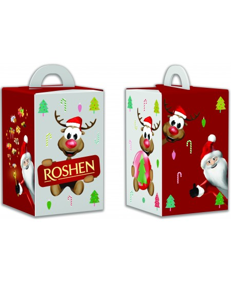 """Kalėdinių saldainių rinkinys """"SMAGUSIS ELNIAS"""" 249g. Dėžutėje"""