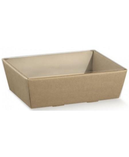 Dėžutė su skaidriu langeliu Matelasse Grigio 260x260x100