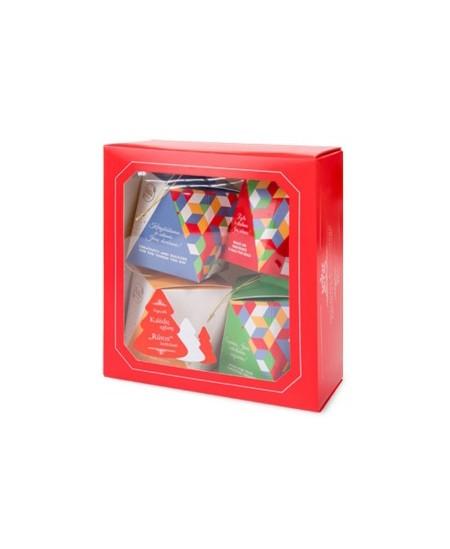 Saldainiai dovanėlė Eglutės žaisliukai 380 g . Pakuotėje95 g x 4 vnt.