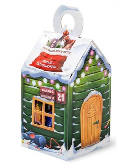Saldainiai dovanėlė Namelis Kalėdų g. Nr.21 110 g. Siurprizas viduje