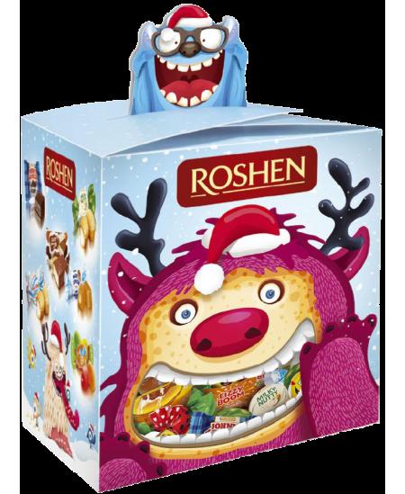 """Kalėdinių saldainių rinkinys """"LINKSMASIS MONSTRIUKAS"""" 299g. Dėžutėje"""