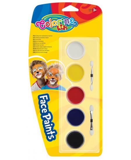 Dažai veidui dažyti COLORINO, 6 spalvos