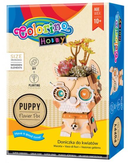 """3D medinė dėlionė - vazonas COLORINO """"Šuniukas"""""""