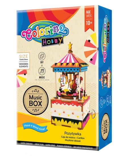 """3D medinė dėlionė - muzikinė dėžutė COLORINO """"Karuselė"""""""