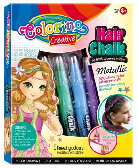 Plaukų dažymo rinkinys mergaitėms COLORINO Metallic