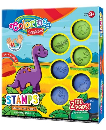 """Antspaudukų rinkinys COLORINO """"Dinozaurai"""""""