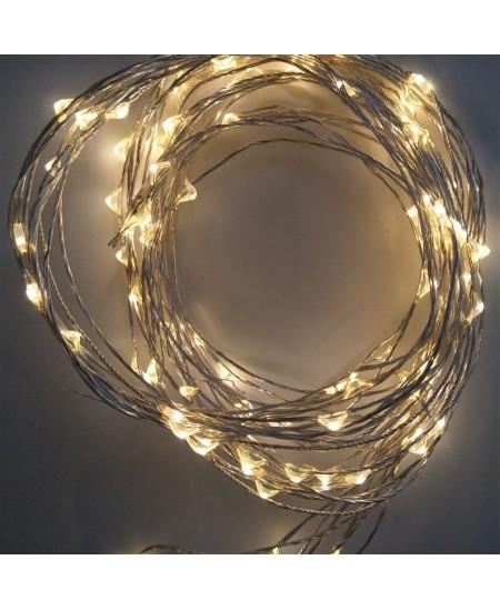 Šviečianti LED girlianda, 120 lemp., 5 m, šiltai balta