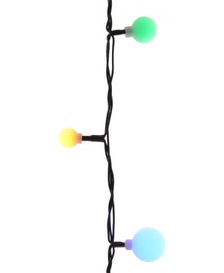 Šviečianti LED girlianda - burbulai, 120 lemp., 9 m, įvairių spalvų
