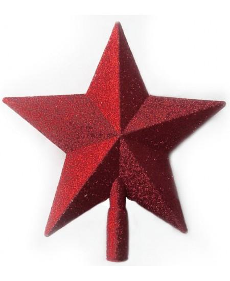 Eglutės viršūnė Žvaigždė SYCD17, 23 cm, raudonos sp.