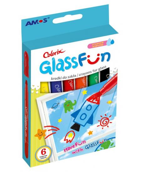 Flomasteriai langų dekoravimui AMOS, 6 spalvos
