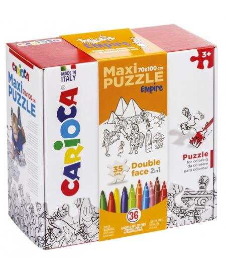 """Kūrybinis dėlionės rinkinys vaikams """"MAXI PUZZLE EMPIRE"""" 70x100 cm"""