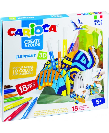 "Kūrybinis 3D rinkinys CARIOCA ""Dramblys"""