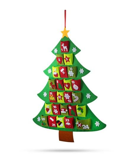 Kalėdinės eglutės formos adventinis kalendorius TULO