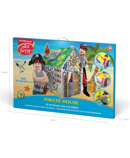 """Didelis spalvinamas rinkinys ERICH KRAUSE """"Piratų namas"""", 93 cm"""