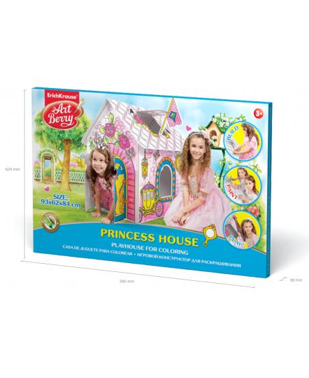 """Didelis spalvinamas rinkinys ERICH KRAUSE """"Princesių namas"""", 93 cm"""