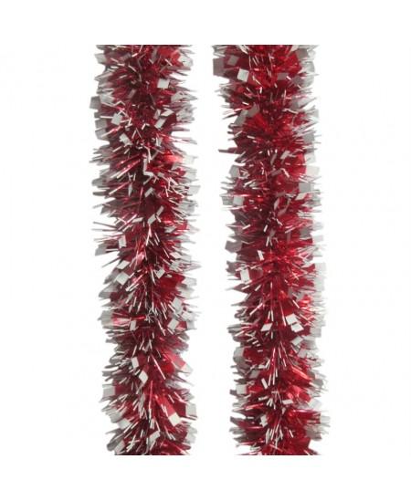 Eglutės girlianda T86, 200 cm, raudonos-sidabrinės sp.