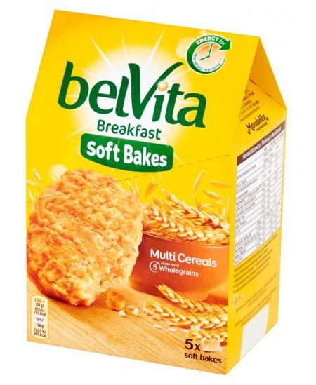 Sausainiai BELVITA minkšti su visų grūdo dalių produktais, su vitaminu B6 ir magniu, 250 g.