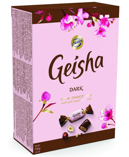 Tamsaus šokolado saldainiai GEISHA, 150g