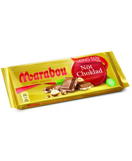 Pieniškas šokoladas MARABOU su lazdyno riešutais, 250 g