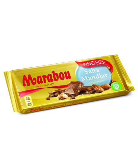 Pieniškas šokoladas MARABOU su sūriais migdolais, 220 g