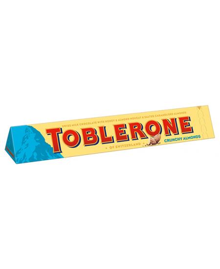 Pieniškas šokoladas TOBLERONE su migdolais, 100g