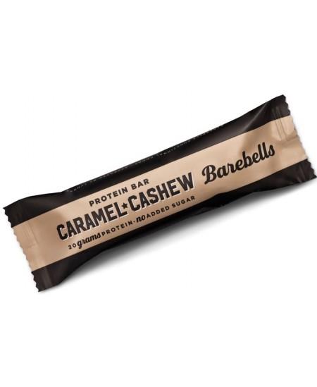 Karamelės skonio baltyminis batonėlis BAREBELLS su anakardžių riešutais, 55 g