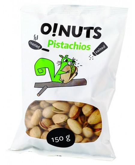 Kepinti ir sūdyti pistacijų riešutai O!NUTS, 150 g