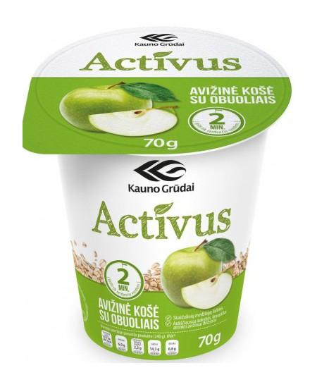 Avižinė košė ACTIVUS su obuoliais, 70 g