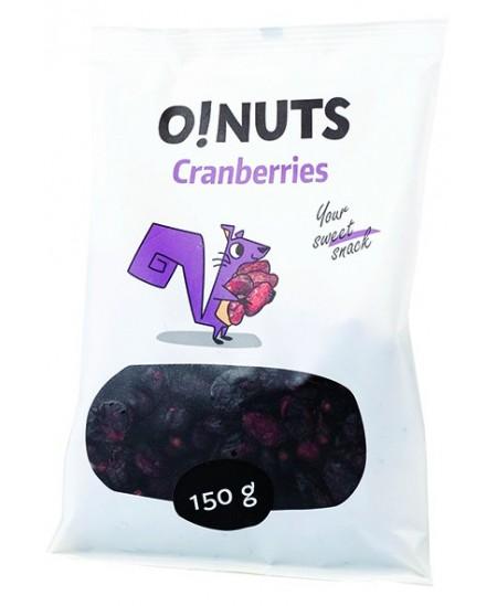 Džiovintos spanguolės O!NUTS, 150 g