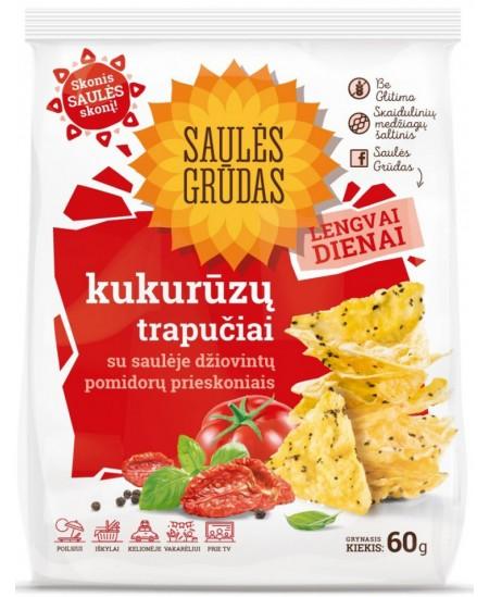 Kukurūzų trapučiai SAULĖS GRŪDAS su pomidorų prieskoniais, 60 g
