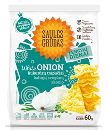 Kukurūzų trapučiai SAULĖS GRŪDAS su baltuoju svogunu , 60 g